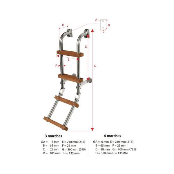 echelle pliante 4 marches minicroiseur. Black Bedroom Furniture Sets. Home Design Ideas